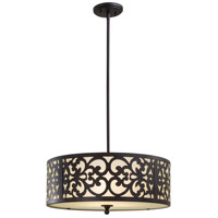 Minka-Lavery 1494-357 Nanti 3 Light 20 inch Iron Oxide Mini Chandelier Ceiling Light