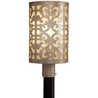 Minka-Lavery 1496-252-PL Nanti 1 Light 19 inch Nanti Chanpagne Silver Outdoor Post Mount Lantern in Nanti Champagne Silver The Great Outdoors