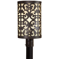 The Great Outdoors by Minka Nanti 1 Light Post Light in Iron Oxide 1496-357-PL