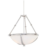 Brookview 3 Light 22 inch Polished Nickel Pendant Ceiling Light