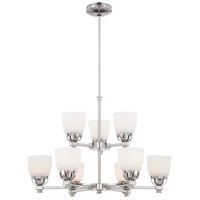 Minka-Lavery Brookview 9 Light Chandelier in Polished Nickel 1509-613 photo thumbnail