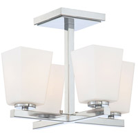 Minka-Lavery City Square 4 Light Semi-flush in Chrome 1542-77