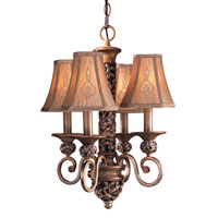 Minka-Lavery Jessica McClintock Home Salon Grand 4 Light Mini Chandelier in Florence Patina 1554-477