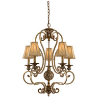 Minka-Lavery Jessica McClintock Home Salon Grand 5 Light Chandelier in Florence Patina 1555-477