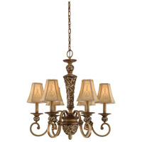 Salon Grand 6 Light 26 inch Florence Patina Chandelier Ceiling Light