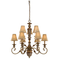 Salon Grand 9 Light 33 inch Florence Patina Chandelier Ceiling Light