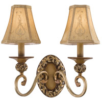 Salon Grand 2 Light 15 inch Florence Patina Wall Sconce Wall Light