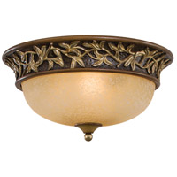 Minka-Lavery Jessica McClintock Home Salon Grand 3 Light Flushmount in Florence Patina 1566-477