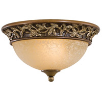Salon Grand 2 Light 13 inch Florence Patina Flush Mount Ceiling Light