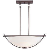 Minka-Lavery Galante 3 Light Pendant in Lathan Bronze 1583-167