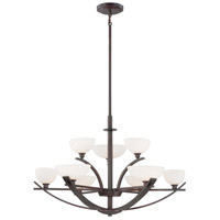 Minka-Lavery Galante 9 Light Chandelier in Lathan Bronze 1589-167