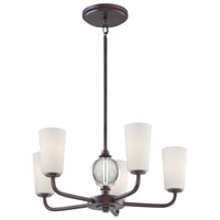 Minka-Lavery Modern Continental 5 Light Chandelier in Kinston Bronze 1615-298
