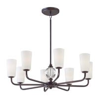 Minka-Lavery Modern Continental 8 Light Chandelier in Kinston Bronze 1618-298