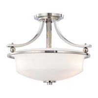 Minka-Lavery Ameswood 3 Light Semi-flush in Polished Nickel 1622-613