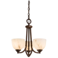 Minka-Lavery Calavera 3 Light Mini Chandelier in Nutmeg 1683-14