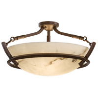 Calavera 3 Light 23 inch Nutmeg Semi Flush Mount Ceiling Light