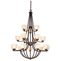 Minka-Lavery Calavera 18 Light Chandelier in Nutmeg 1689-14