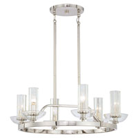 Minka-Lavery Urban Nouveau 6 Light Chandelier in Polished Nickel 1695-613
