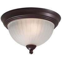 1730 Series 2 Light Lathan Bronze Flush Mount Ceiling Light