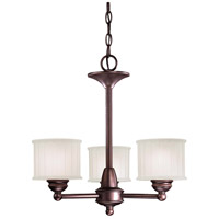 1730 Series 3 Light 19 inch Lathan Bronze Mini Chandelier Ceiling Light