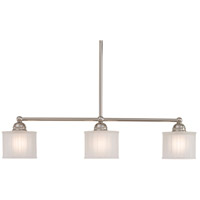 1730 Series 3 Light 32 inch Polished Nickel Island Light Ceiling Light
