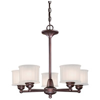 1730 Series 5 Light 24 inch Lathan Bronze Chandelier Ceiling Light