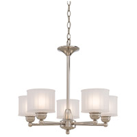 1730 Series 5 Light 24 inch Polished Nickel Chandelier Ceiling Light
