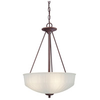 1730 Series 3 Light 17 inch Lathan Bronze Pendant Ceiling Light