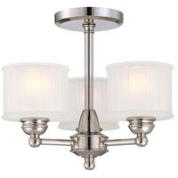1730 Series 3 Light 16 inch Polished Nickel Semi Flush Mount Ceiling Light