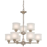 Minka-Lavery 1730 Series 9 Light Chandelier in Polished Nickel 1739-613