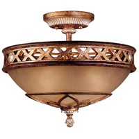 Aston Court 3 Light 16 inch Aston Court Bronze Semi Flush Mount Ceiling Light