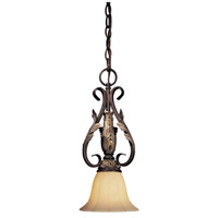 Minka-Lavery Bellasera 1 Light Mini Pendant in Castlewood Walnut w/Silver Highlights 177-301