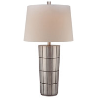 Signature 27 inch 150 watt Charleston Silver Table Lamp Portable Light