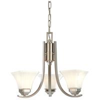 Minka-Lavery 1813-84 Agilis 3 Light 20 inch Brushed Nickel Mini Chandelier Ceiling Light