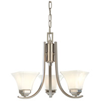 Agilis 3 Light 20 inch Brushed Nickel Chandelier Ceiling Light