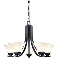 Agilis 5 Light 27 inch Black Chandelier Ceiling Light