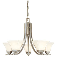 Minka-Lavery Agilis 5 Light Chandelier in Brushed Nickel 1815-84 photo thumbnail
