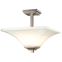 Minka-Lavery Brushed Nickel Glass Semi-Flush Mounts