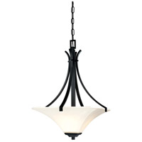 Minka-Lavery Agilis 3 Light Pendant in Black 1817-66