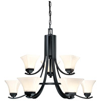 Minka-Lavery Agilis 9 Light Chandelier in Black 1818-66