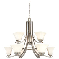 Agilis 9 Light 33 inch Brushed Nickel Chandelier Ceiling Light