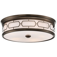 Signature 5 Light 20 inch Harvard Court Bronze Plated Flush Mount Ceiling Light