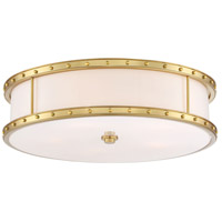 Signature 5 Light 20 inch Liberty Gold Flush Mount Ceiling Light