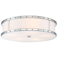 Signature 5 Light 20 inch Chrome Flush Mount Ceiling Light