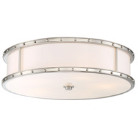 Signature 5 Light 20 inch Brushed Nickel Flush Mount Ceiling Light