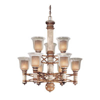 Minka-Lavery Country Ranch 9 Light Chandelier in Sandalwood 1838-221
