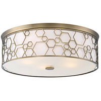 Signature 5 Light 20 inch Polished Satin Brass Flush Mount Ceiling Light