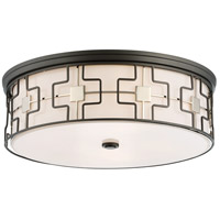 Minka-Lavery 1846-105-L ML LED 20 inch Dark Gray/Polished Nickel Flush Mount Ceiling Light in Dark Gray with Polished Nickel