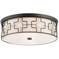 Minka-Lavery 1846-105 Minka Lavery 5 Light 20 inch Dark Gray/Polished Nickel Flush Mount Ceiling Light in Dark Gray with Polished Nickel