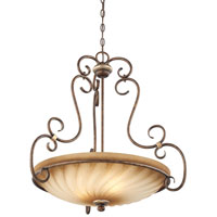Marsoni 3 Light 29 inch Distressed Marsoni Bronze Pendant Ceiling Light